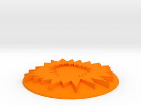 ! - Nova Cannon Template in Orange Processed Versatile Plastic