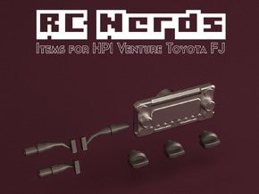 RCN191 Dashboard elements for HPI Toyota FJ in Smooth Fine Detail Plastic