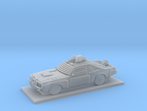 Muscle Police Car in Smooth Fine Detail Plastic
