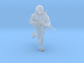 Soldier-sq-1 in Smooth Fine Detail Plastic