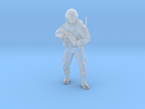 Soldier-sq-2 in Smooth Fine Detail Plastic