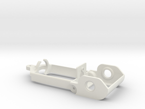 "D16 old motor holder ""back to '60"" 1/24 chassis in White Natural Versatile Plastic"