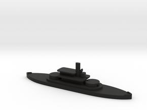 1/1250 HMS Abyssinia (1870) Gaming Model in Black Natural Versatile Plastic