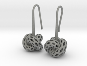 D-STRUCTURA Earrings. Stylized Chic in Gray Professional Plastic: Small