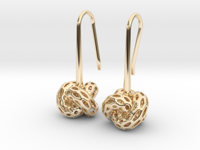 D-STRUCTURA Earrings. Stylized Chic in 14K Yellow Gold: Small