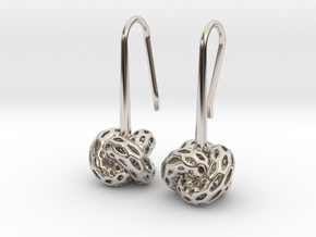 D-STRUCTURA Earrings. Stylized Chic in Platinum: Small