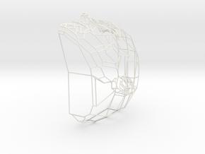 Wire Head in White Natural Versatile Plastic