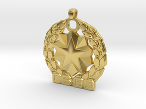 CS:GO Distinguished Master Guardian Pendant in Polished Brass