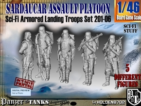 1/46 Sci-Fi Sardaucar Platoon Set 201-06 in Smoothest Fine Detail Plastic