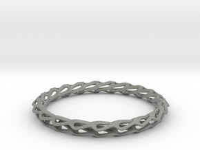 H Bracelet Smooth, Medium Size, d=65mm in Gray PA12: Medium