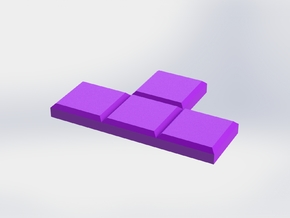 Purple T-Shaped Coaster in Purple Processed Versatile Plastic