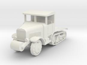 Somua MCG heavy art. tractor  1:87 in White Natural Versatile Plastic