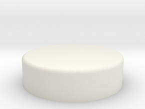 Inferno Button in White Natural Versatile Plastic