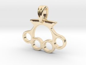 Knuckle Pendant Jewelry Symbol in 14k Gold Plated Brass