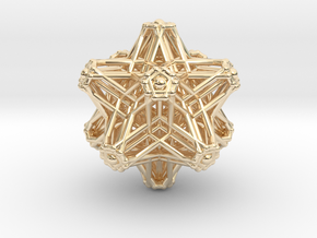 Hedron stars Nest in 14k Gold Plated Brass