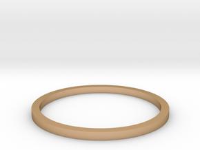 Ring Inside Diameter 15.4mm in Polished Bronze