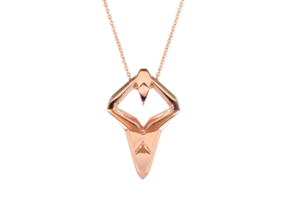 HEART TO HEART Heartronic, Pendant in 14k Rose Gold Plated Brass