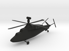 Westland WG.47A Stealth Attack Helicopter in Black Premium Versatile Plastic
