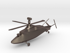 Westland WG.47B Stealth Helicopter in Polished Bronzed-Silver Steel: 1:144