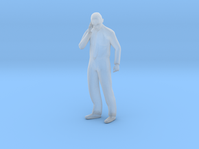 O Scale Man Talking on the phone in Smooth Fine Detail Plastic