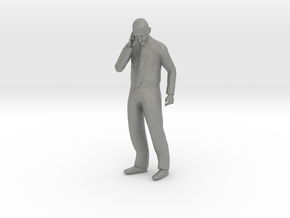 S Scale Man Talking on the phone in Gray PA12