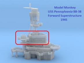 1/200 Pennsylvania Superstructure 1945 part 4 of 5 in Smooth Fine Detail Plastic