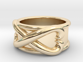 Time Ring - DBS  in 14k Gold Plated Brass: 7 / 54