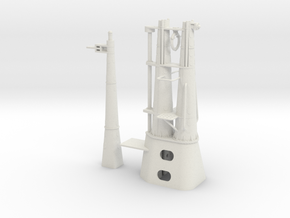1/48 Balao Periscope Shears and Radar Mast in White Natural Versatile Plastic