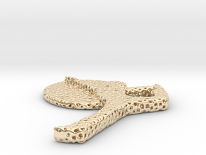 voronoi yoga in 14k Gold Plated Brass