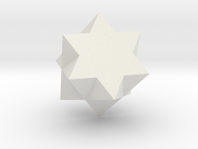 Galena penetration twin in White Natural Versatile Plastic