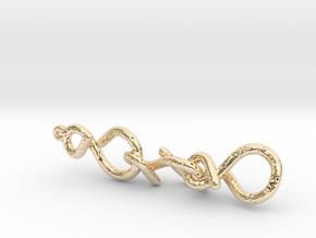 11_3_infinity_voro voronoi  in 14k Gold Plated Brass