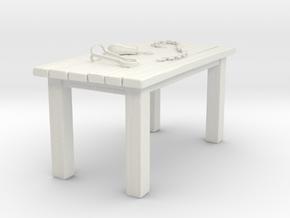 Torture Table in White Natural Versatile Plastic