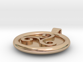 Triskell Round Pendant in 14k Rose Gold