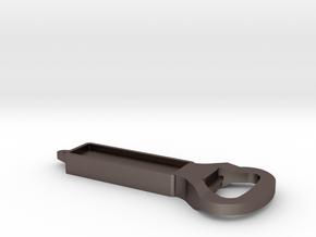 Dinez Art Designs Bottle Opener in Polished Bronzed-Silver Steel