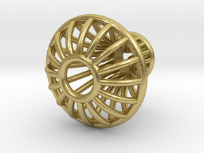 Knob 010215 A in Natural Brass