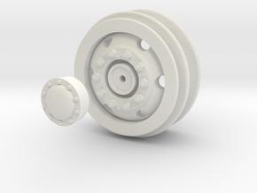 Wheel / Rim for 1/16 WPL Trucks in White Natural Versatile Plastic