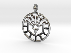 BRAIN FUNCTION in Antique Silver