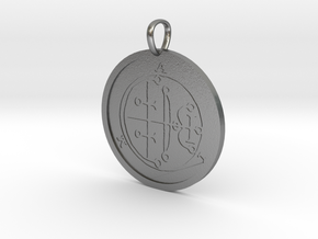 Aim Medallion in Natural Silver