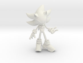 Shadow The Hedgehog  in White Natural Versatile Plastic