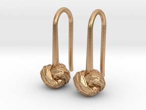 D-STRUCTURA S Earrings.   in Natural Bronze