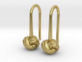 D-STRUCTURA S Earrings.   in Natural Brass