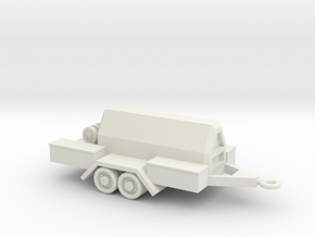 1/87 Scale Compressor Trailer in White Natural Versatile Plastic
