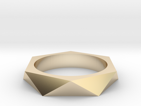 Shifted Hexagon 13.21mm in 14K Yellow Gold