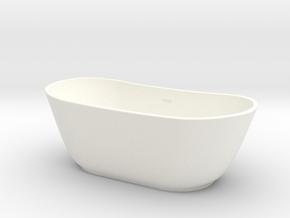 Slope Bathtub  in White Processed Versatile Plastic