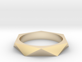 Shifted Hexagon 15.27mm in 14K Yellow Gold