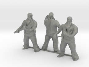 HO Scale Big Man with Tools in Gray Professional Plastic