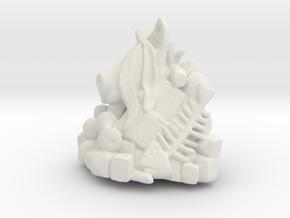 Pile of Trash Sculpture  in White Natural Versatile Plastic