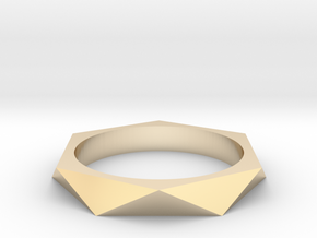 Shifted Hexagon 16.92mm in 14K Yellow Gold