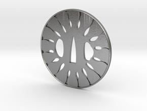 Tsuba wheel  in Natural Silver