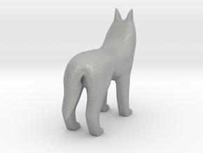Standing Wolf in Aluminum